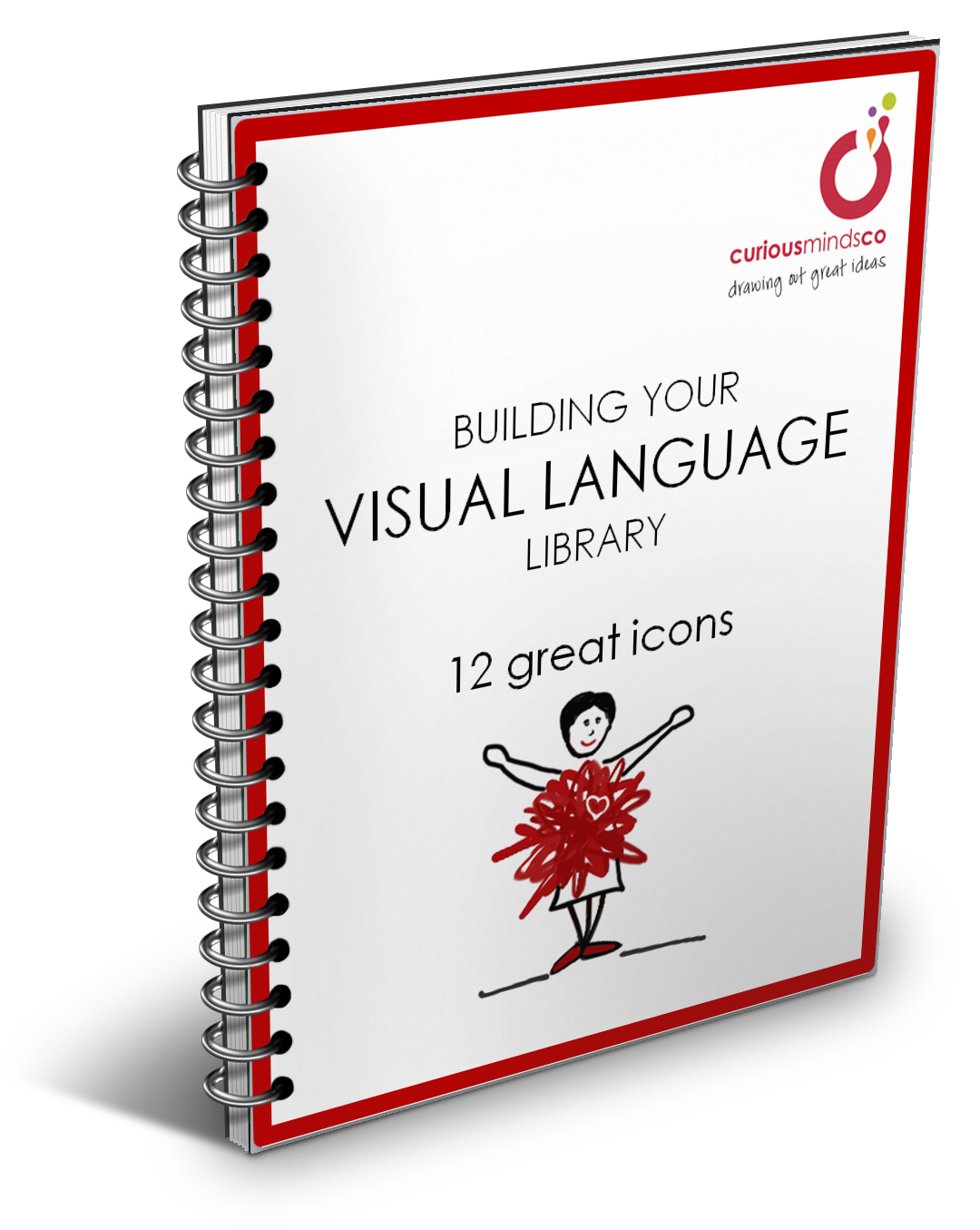 """Building Your Visual Language Library: 12 Great Icons"" ebook - a gift when you join the Curious Minds community"