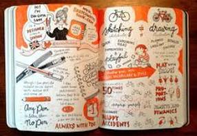 Showcasing Eva-Lotta Lamm's work in Mike's book, page 82